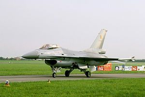 F-16 of the Belgian Air Component's Solo Display Team