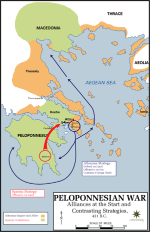 Peloponnesian war alliances 431 BC.png