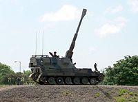 Self-propelled artillery gun