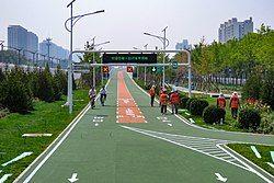 East start of Huilongguan-Shangdi Bicycle Lane (20190607134646).jpg