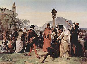 The Sicilian Vespers (1846), by Francesco Hayez