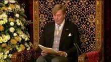 File:Koning Willem-Alexander spreekt de Troonrede 2015 uit in de Ridderzaal.webm