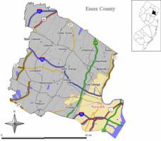 纽瓦克在艾塞克斯县中的位置