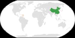China和Dominica在世界的位置