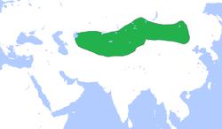 突厥汗国初期的疆域图
