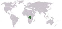 刚果自由邦 的位置