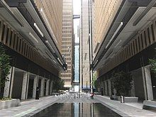 Entrance shot of the Peachtree Center development