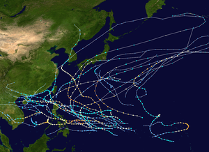 1951 Pacific typhoon season summary map.png
