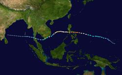 超強台风榴莲的路径图