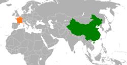 France和China在世界的位置