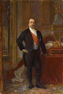 Portrait of Napoleon III aged 57