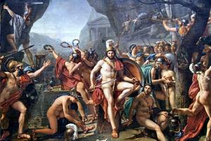 Leonidas at Thermopylae, by Jacques-Louis David (1814)