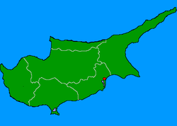 Location of Kition
