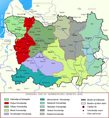 Trakai Voivodeship within Lithuania in the 17th century.png