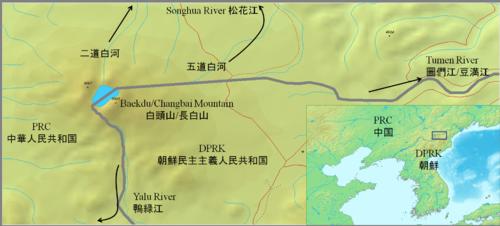 Apprx. PRC-DPRK border around Baekdu-Changbai Mountain.PNG