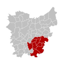 阿尔斯特区在东佛兰德省的位置