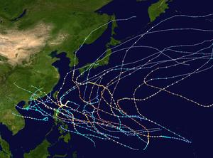 1957 Pacific typhoon season summary map.png