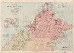 英属北婆罗洲1899年地图