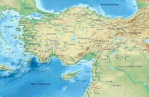 Phrygia among the classical regions of Anatolia