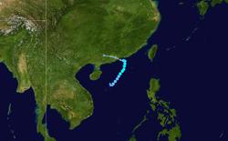 强热带风暴锦雯的路径图