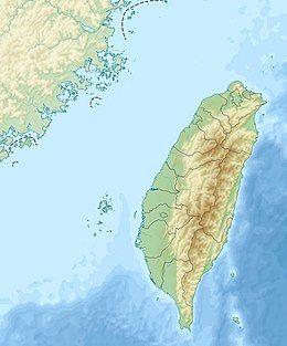 1935年新竹–台中地震在台湾的位置
