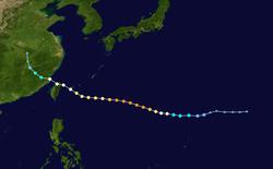 超强台风苏力的路径图