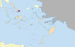 米科诺斯岛在爱琴海中的位置