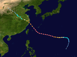 台风万达的路径图