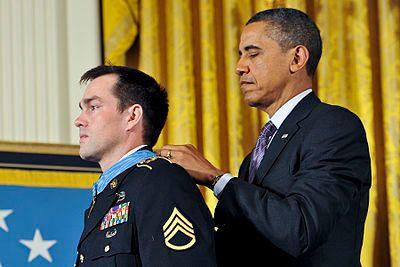 Barack Obama awards Medal of Honor to Clinton Romesha.jpg