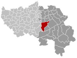 特镇在比利时的位置图