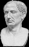 Bust of Gaius Julius Caesar.