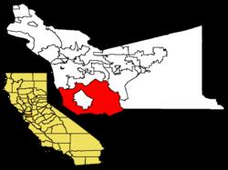 阿拉梅达县内位置