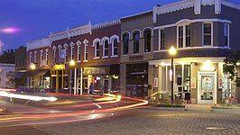 Downtown Bentonville at Night