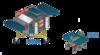 嫦娥四号与玉兔二号模拟外表图