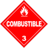 Class 3: Combustible (Alternate Placard)