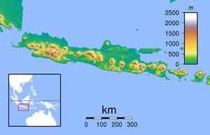 瑪瑯在爪哇島的位置