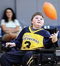 Moterized Wheelchair Football Player.JPG