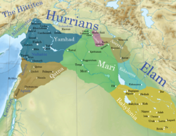 The third kingdom during the reign of Zimri-Lim c. 1764 BC