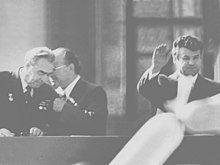 Leonid Ilich Brezhnev, Ivan Ivanovich Bodiu and Petru Pascaru (the chairman of the council of ministers of the Soviet Moldova). Kishinev, 1976. (5418112796).jpg