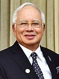 Prime Minister of Malaysia, Dato' Sri Mohd Najib Bin Tun Abdul Razak, at Hyderabad House, in New Delhi on January 26, 2018 (cropped).jpg