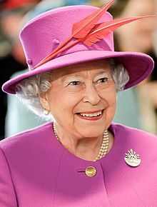 photograph of the Queen in her eighty-ninth year