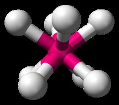 四角反棱柱形分子构型