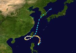 强台风天秤的路径图