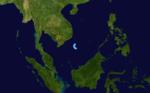 November 1986 China tropical depression track.png