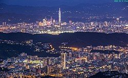 台北都会区的天际线
