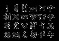 二里头遗址发现的二十四种陶纹符号