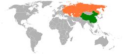 People's People's Republic of China和Soviet Union在世界的位置