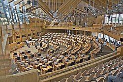 Scottish Parliament, Main Debating Chamber - geograph.org.uk - 1650829.jpg