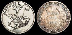 Apollo 1 Silver-Colored Fliteline Medallion (Flown on Apollo 9).jpg