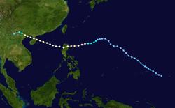 强台风科罗旺的路径图